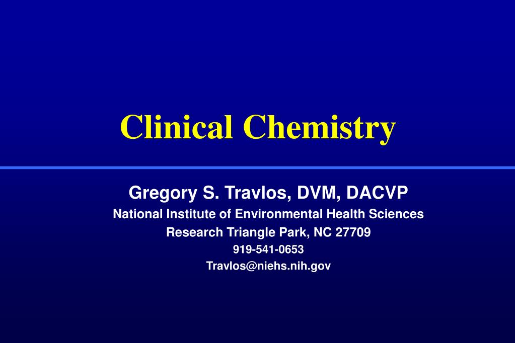 clinical chemistry l.
