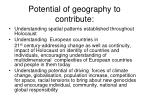 potential of geography to contribute