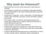 why teach the holocaust