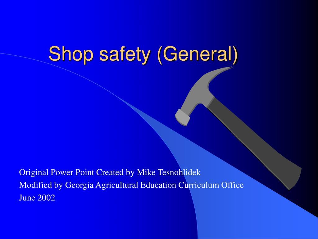 shop safety general l.