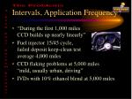 intervals application frequency