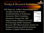testing research institutions