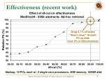effectiveness recent work