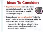 ideas to consider