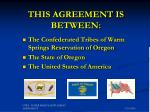 this agreement is between