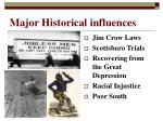 major historical influences
