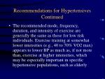 recommendations for hypertensives continued75