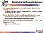 demonstration analysis summary