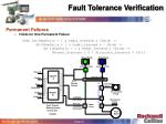 fault tolerance verification31