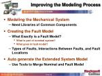 improving the modeling process40