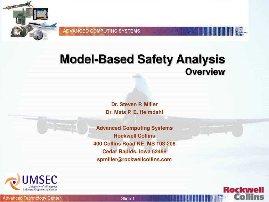 model based safety analysis overview l.
