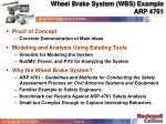 wheel brake system wbs example arp 4761