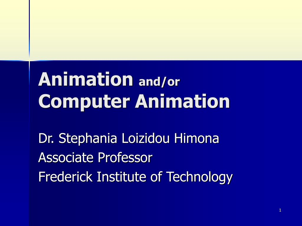 animation and or computer animation l.