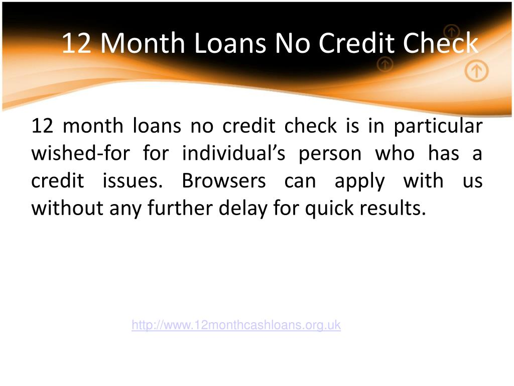 12 Month Loans No Credit Check