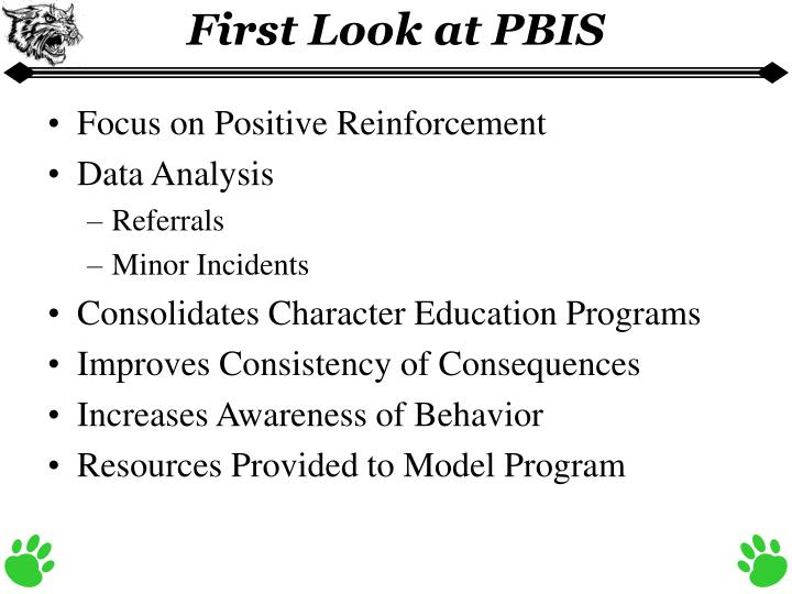 First Look at PBIS