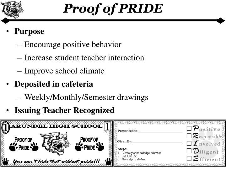 Proof of PRIDE