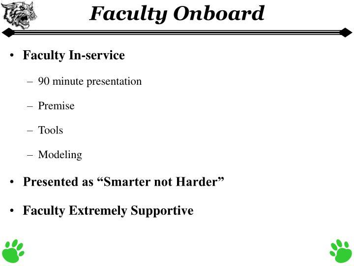 Faculty Onboard