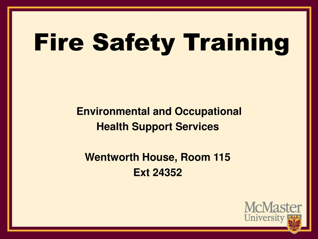 fire safety training l.