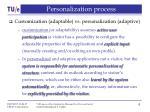 personalization process