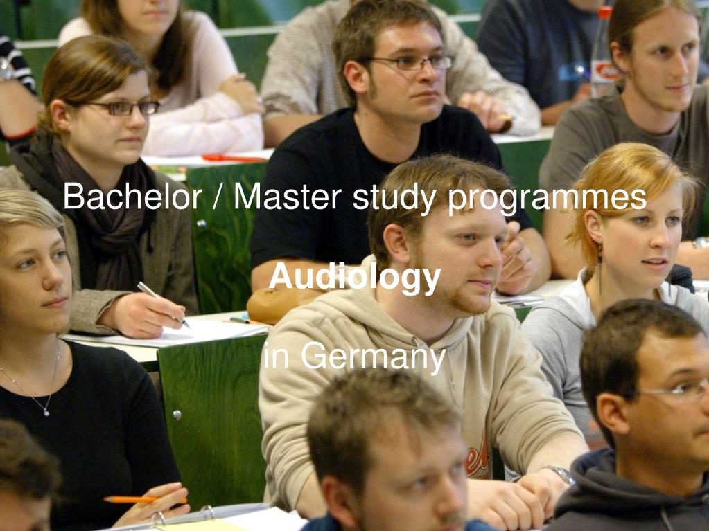 bachelor master study programmes audiology in germany l.