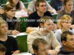 bachelor master study programmes audiology in germany