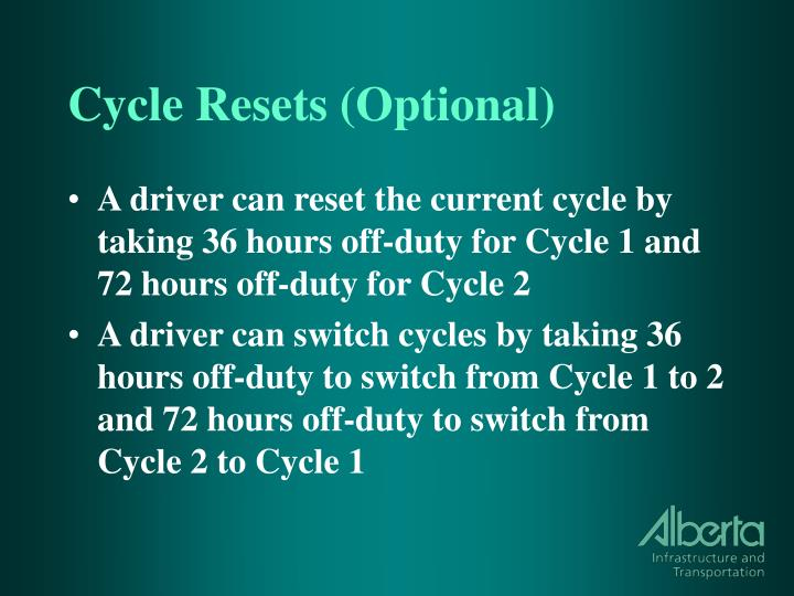 Cycle Resets (Optional)