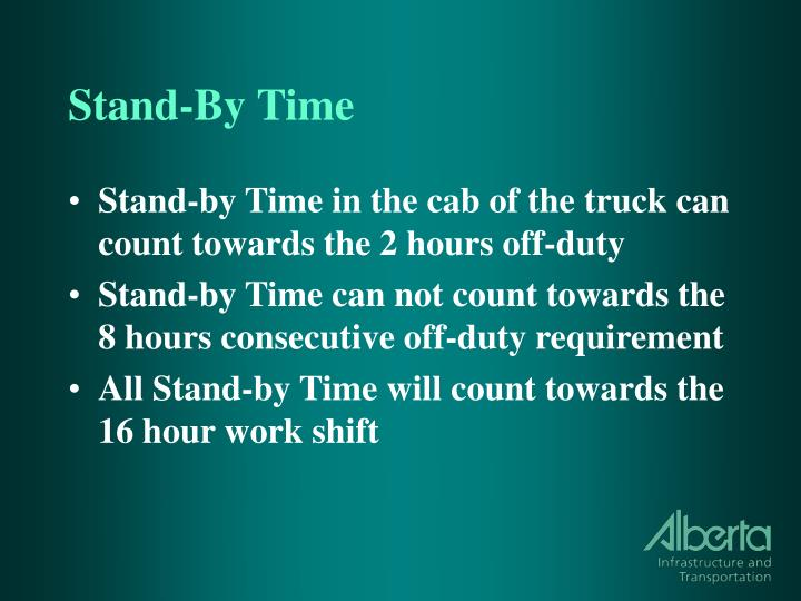 Stand-By Time