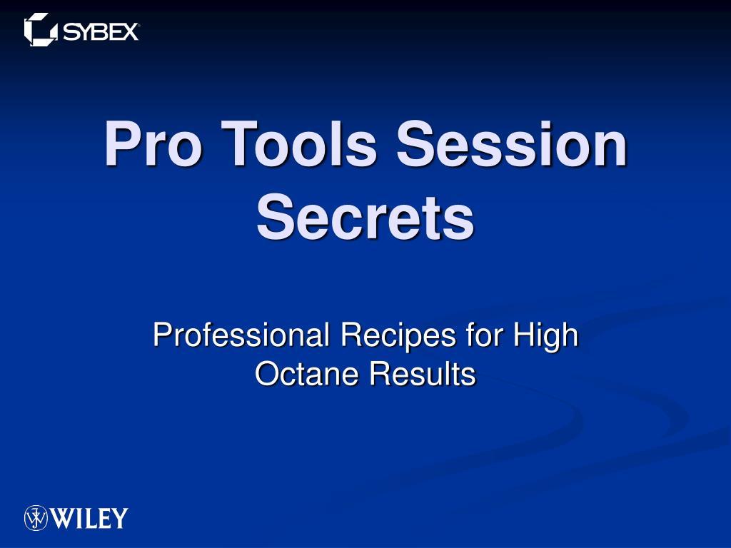 pro tools session secrets l.
