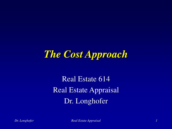 the cost approach n.