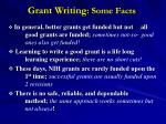 grant writing some facts