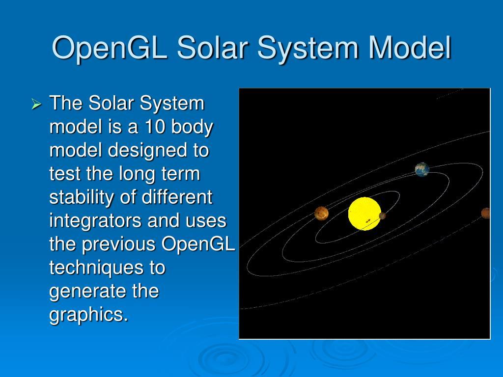 OpenGL Solar System Model