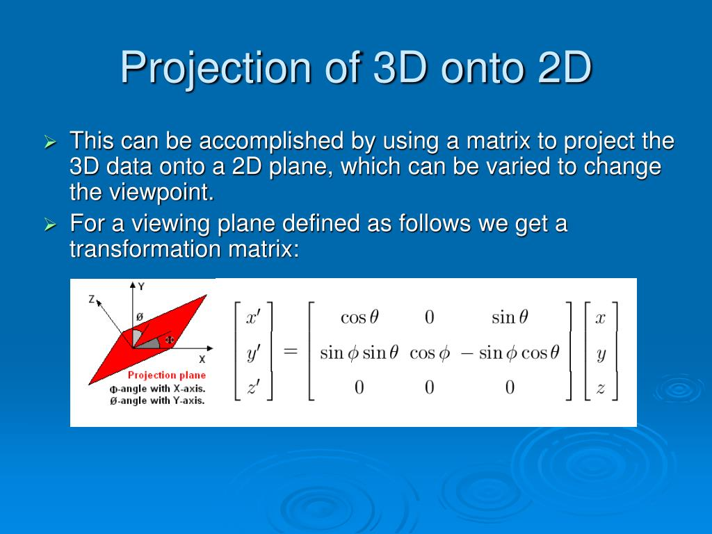 Projection of 3D onto 2D