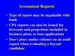 accountant reports