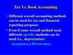 tax vs book accounting