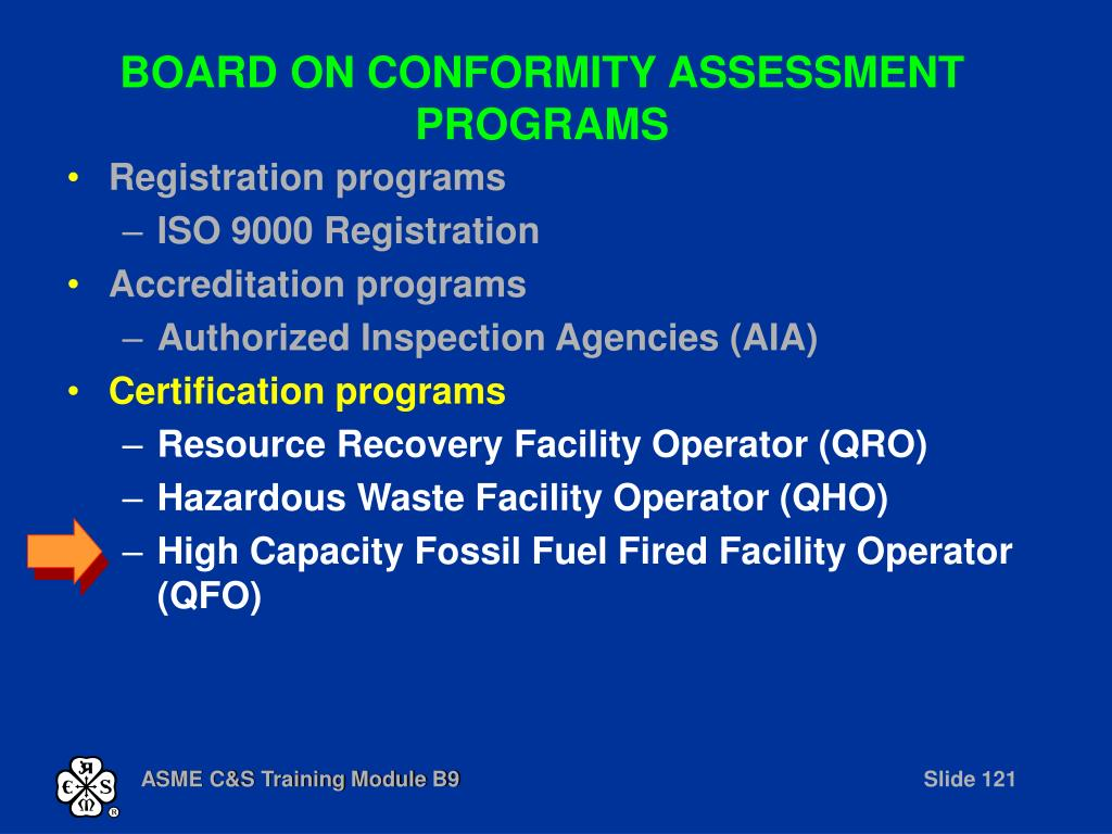 BOARD ON CONFORMITY ASSESSMENT PROGRAMS