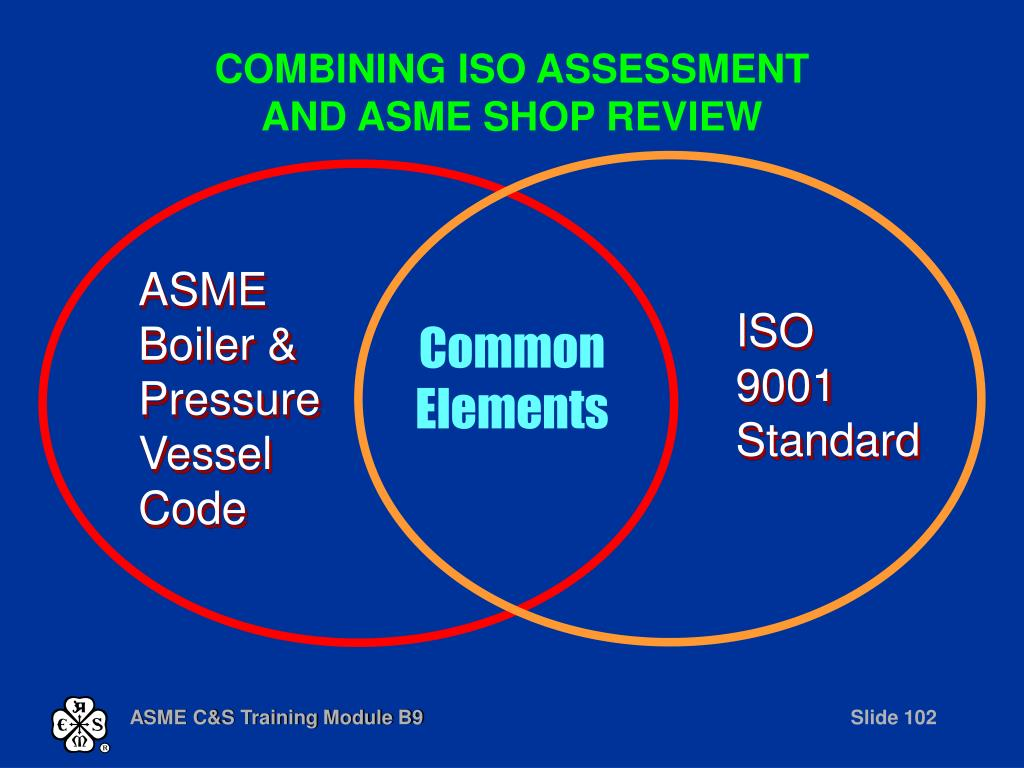 COMBINING ISO ASSESSMENT AND ASME SHOP REVIEW