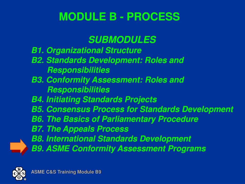 MODULE B - PROCESS