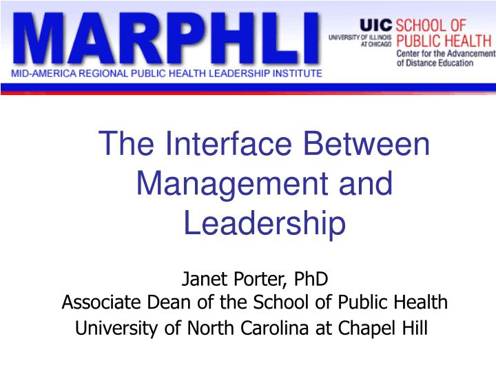 The interface between management and leadership