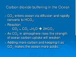carbon dioxide buffering in the ocean