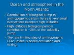 ocean and atmosphere in the north atlantic