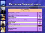 the income statement example
