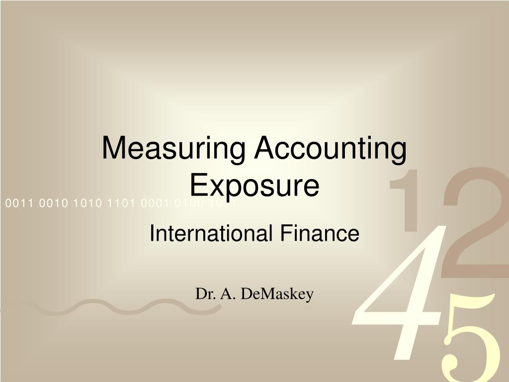 measuring accounting exposure l.