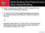 metal building roof requirements semi heated building