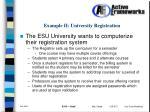 example ii university registration
