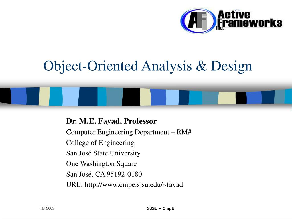 object oriented analysis design l.