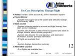 use case description change flight