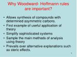 why woodward hoffmann rules are important