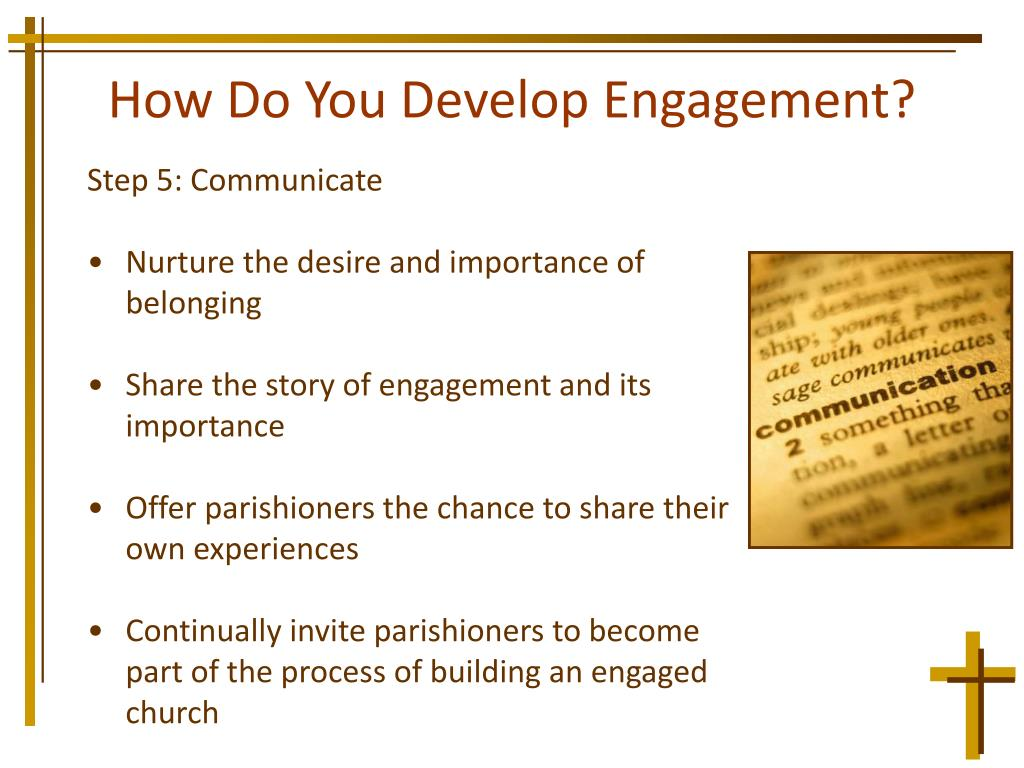 How Do You Develop Engagement?