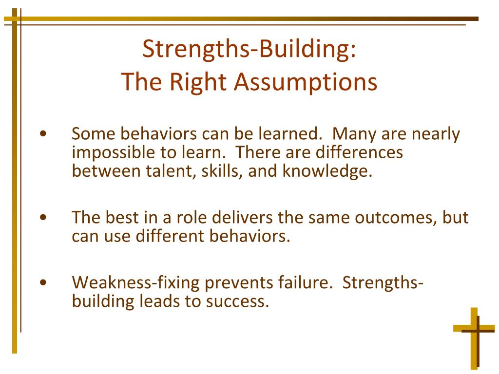 Strengths-Building: