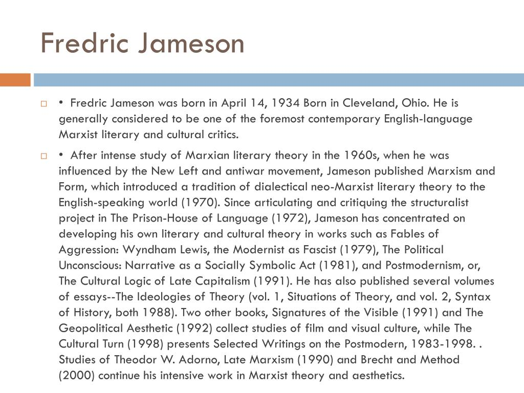 the notion of hyperreality in frederic jamesons cultural logic of late capitalism